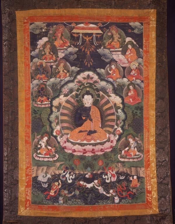 Thangka of Nagarjuna card