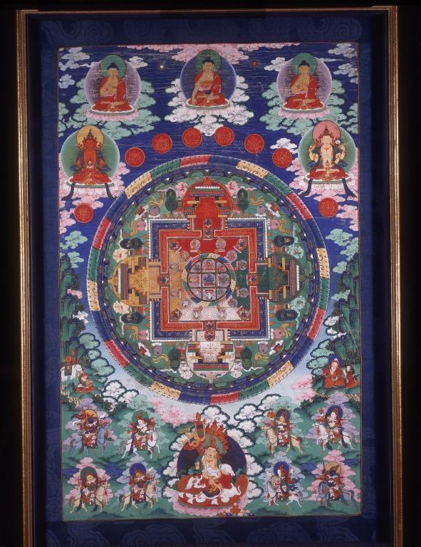 Thangka of Hayagriva mandala card