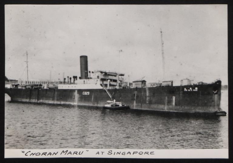 Photograph of Choran Maru ex Lake Champlain, Beaver Line card