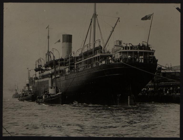 Photograph of Grampian, Allan Line card