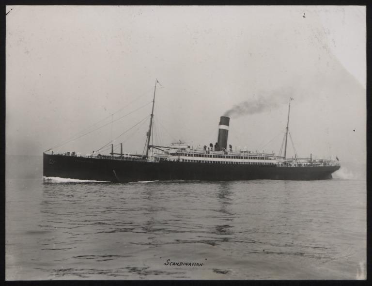 Photograph of Scandinavian, Allan Line card