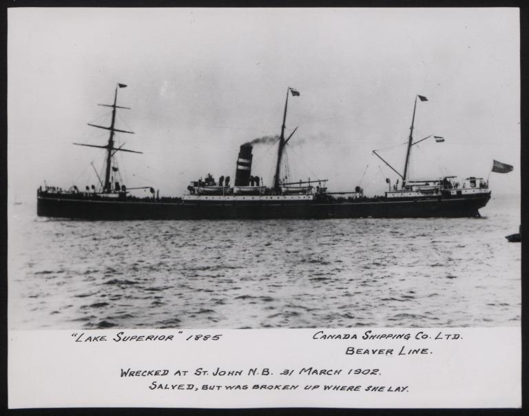 Photograph of Lake Superior, Beaver Line card