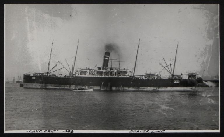 Photograph of Lake Erie (No. 86), Beaver Line card