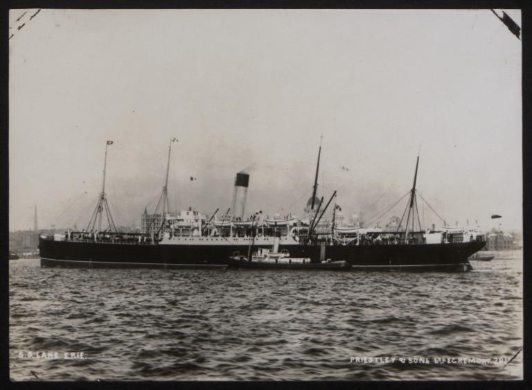 Photograph of Lake Erie, Beaver Line card