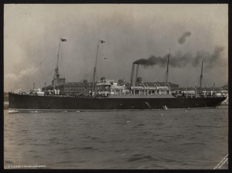 Photograph of Lake Champlain, Beaver Line card