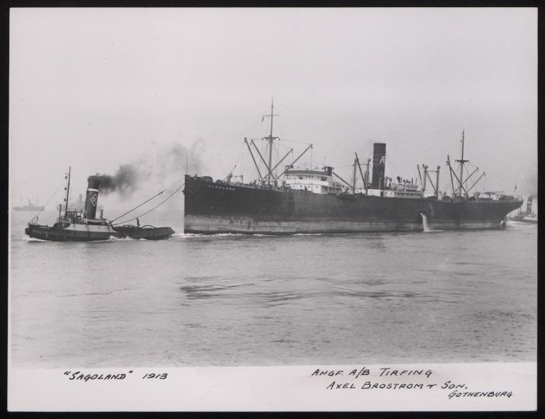 Photograph of Sagoland, A/B Tirfing (Axel Brostrom) card