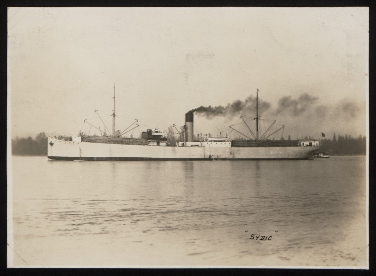 Photograph of Sydic, Rederi A/B Transatlantic G Carlsson card