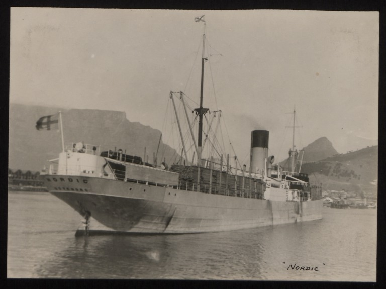 Photograph of Nordic, Rederi A/B Transatlantic G Carlsson card