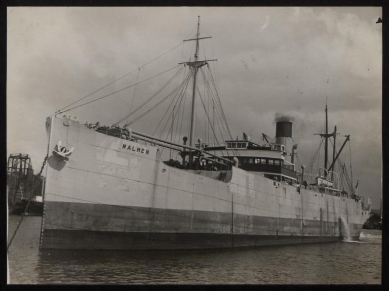 Photograph of Malmen, Rederi A/B Transatlantic G Carlsson card