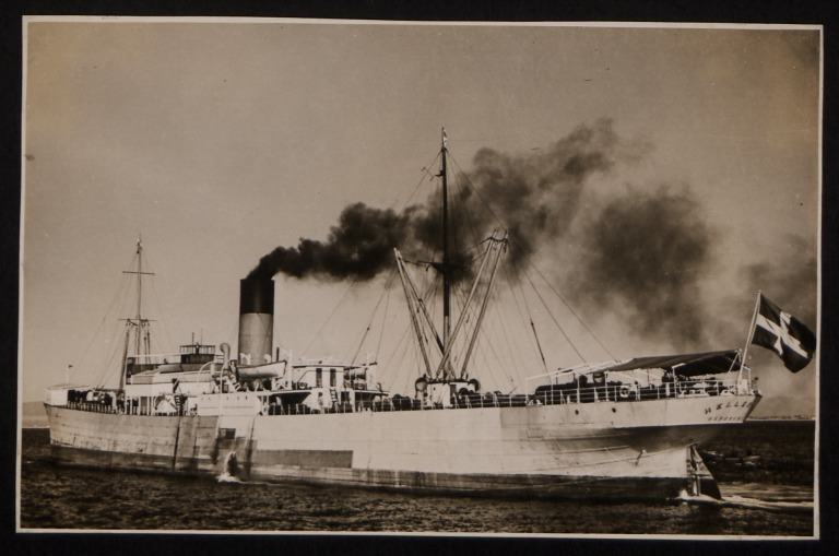 Photograph of Hellenic, Rederi A/B Transatlantic G Carlsson card