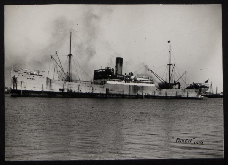 Photograph of Faxen, Rederi A/B Transatlantic G Carlsson card