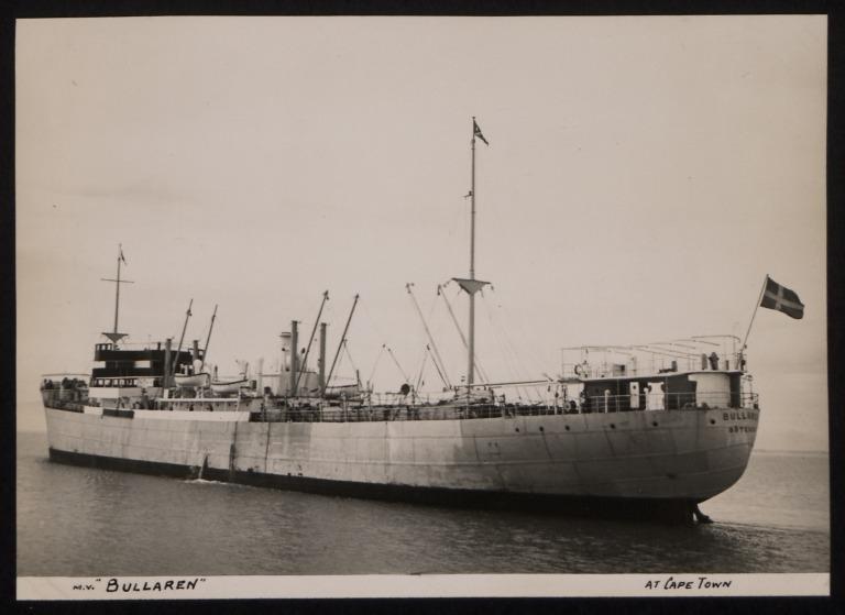 Photograph of Bullaren, Rederi A/B Transatlantic G Carlsson card