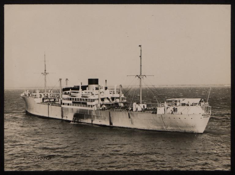 Photograph of Mirrabooka, Rederi A/B Transatlantic G Carlsson card
