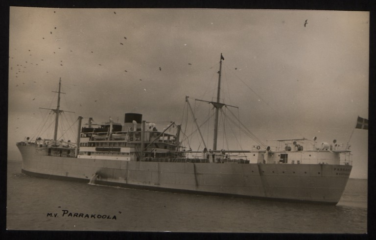 Photograph of Parrakoola, Rederi A/B Transpacific card