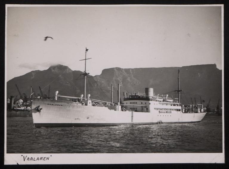 Photograph of Vaalaren, Rederi A/B Transatlantic G Carlsson card