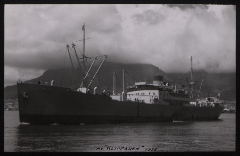 Photograph of Klipparen, Rederi A/B Transatlantic G Carlsson card