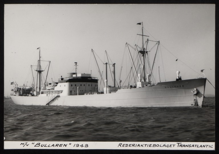 Photograph of Bullaren, Rederiaktiebolaget Transatlantic card