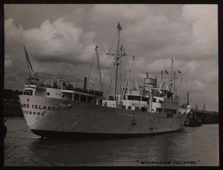Photograph of Windward Islands, A/B Ocean Kompaniet - Axel Bostrom and Son card