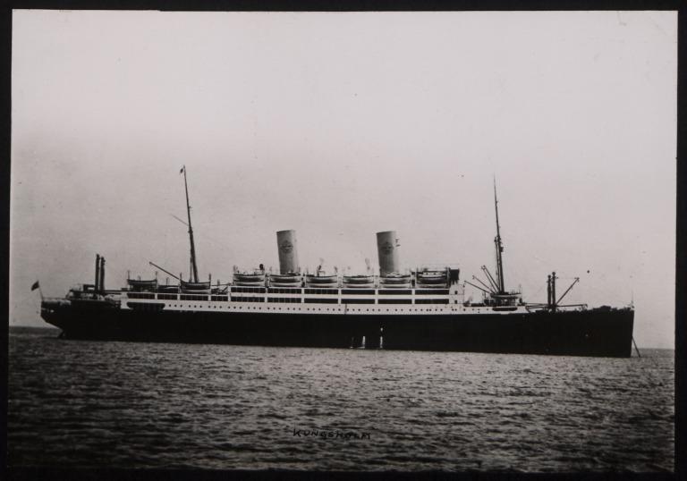 Photograph of Kungsholm, Svenska Amerika Linien card