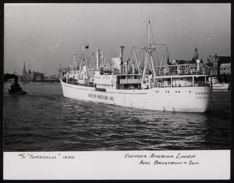 Photograph of Torsholm, Svenska Amerika Linien card