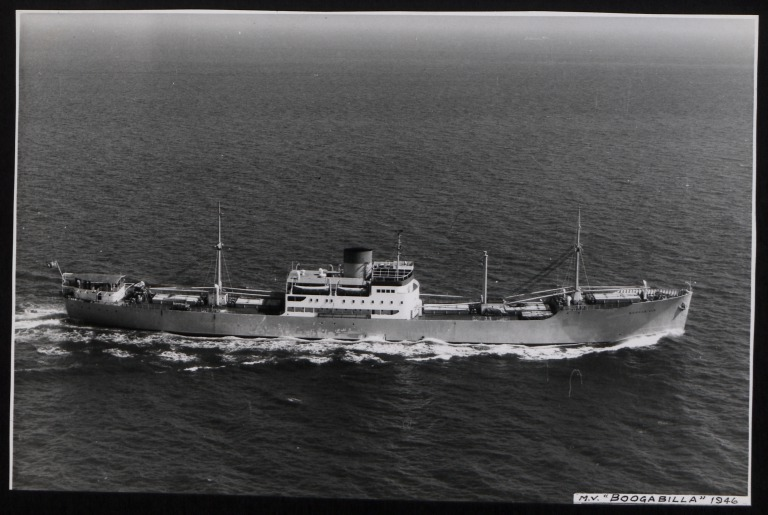 Photograph of Boogabilla, Rederi A/B Transatlantic G Carlsson card
