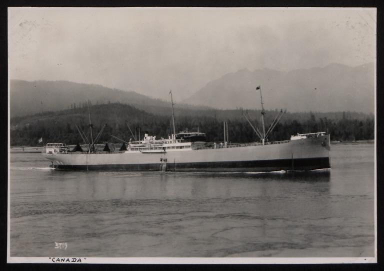 Photograph of Canada, Rederi A/B Nordstjernan card