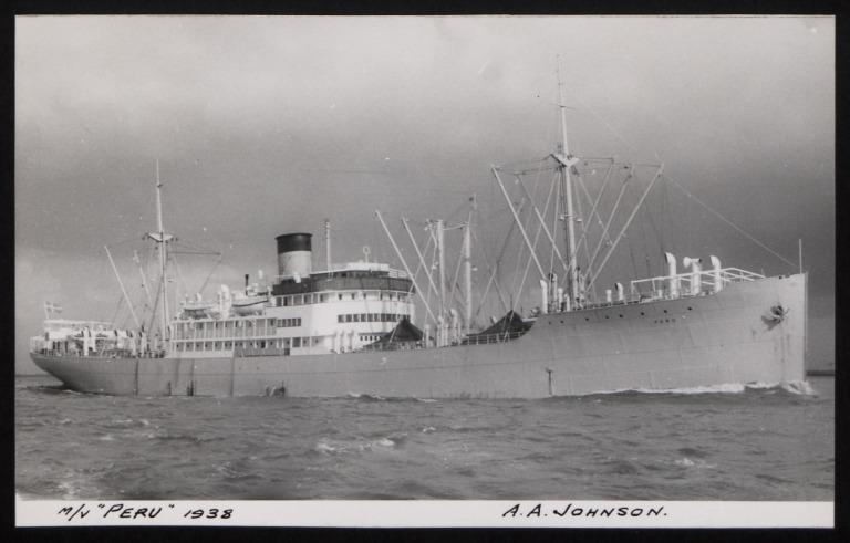 Photograph of Peru, Johnson Line card