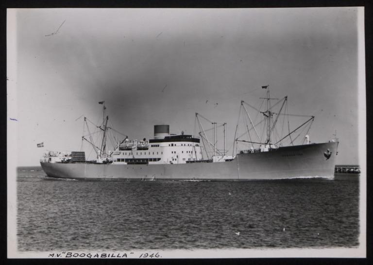 Photograph of Boogabilla, Rederi A/B Transatlantic G Carlsson card