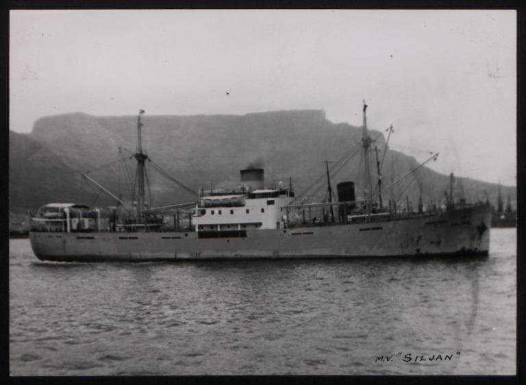 Photograph of Siljan, Rederi A/B Transatlantic G Carlsson card