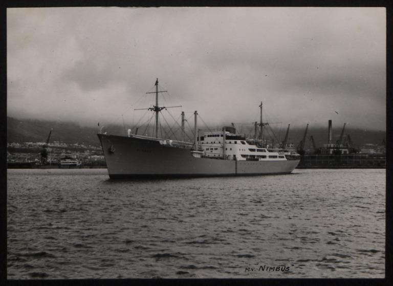 Photograph of Nimbus, Rederi A/B Transatlantic G Carlsson card