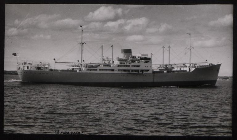 Photograph of Stratus, Rederi A/B Transatlantic G Carlsson card