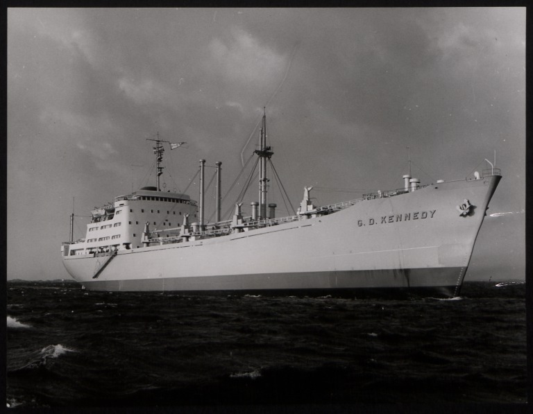 Photograph of G D Kennedy, Rederi A/B Transatlantic G Carlsson card
