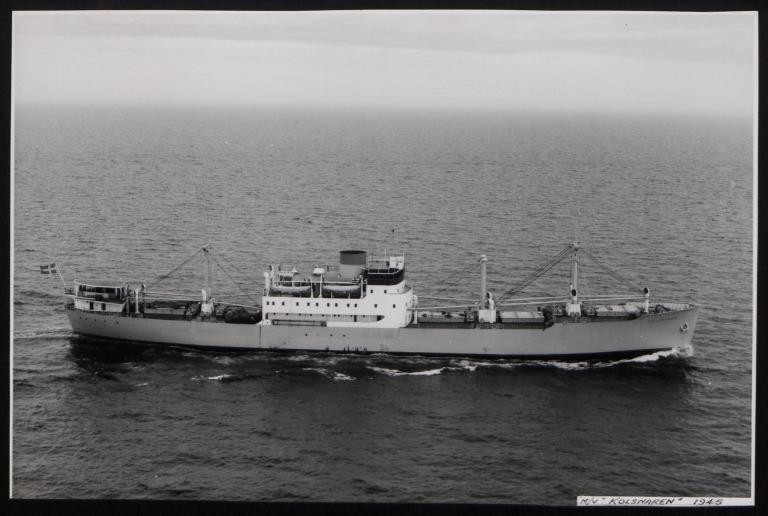 Photograph of Kolsnaren, Rederi A/B Transatlantic G Carlsson card