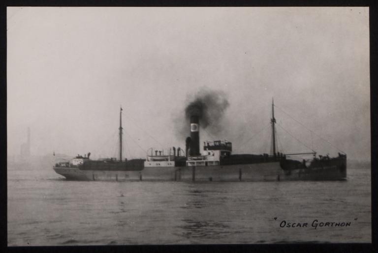 Photograph of Oscar Gorthon, Rederi A/B Gylfe card