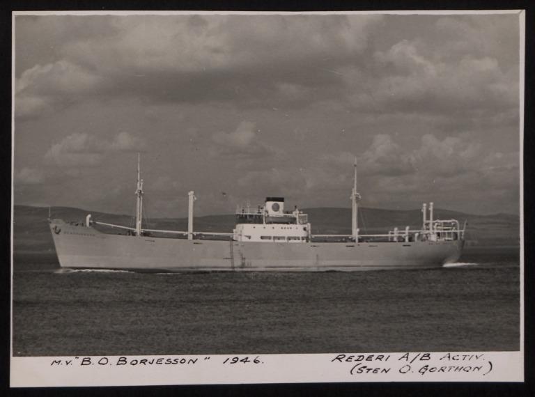 Photograph of B O Borjesson, Rederi A/B Activ card