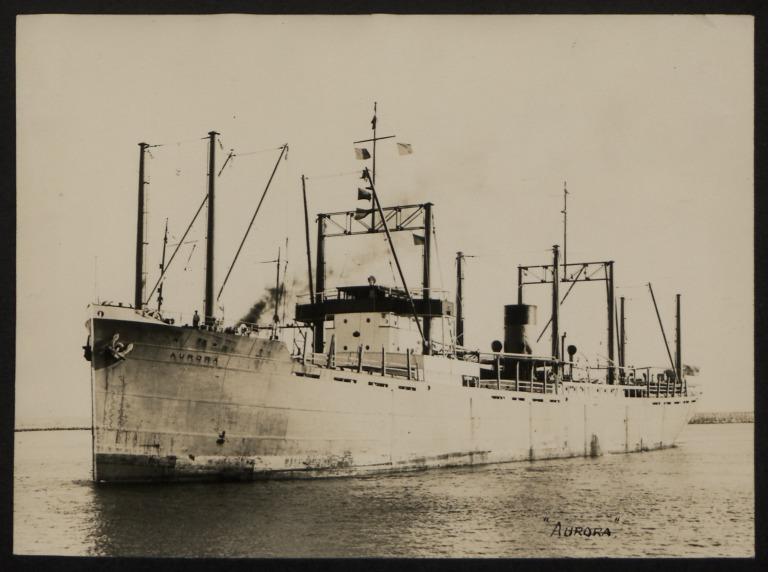 Photograph of Aurora, Rederiaktieb Zenith card