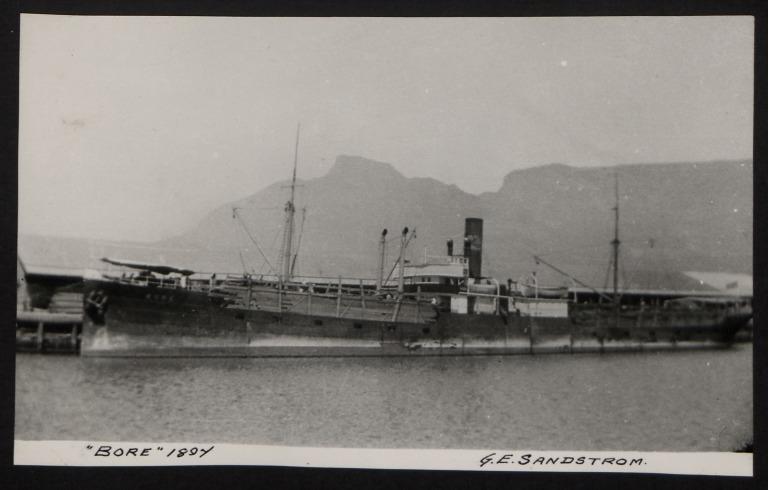 Photograph of Bore, G E Sandstorm card