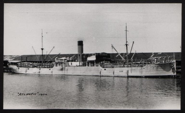 Photograph of Atlantic, Rederiaktieb Bore (G Sandstrom) card