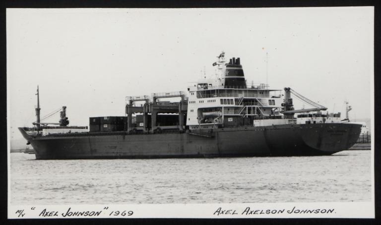 Photograph of Axel Johnson, Johnson Line card