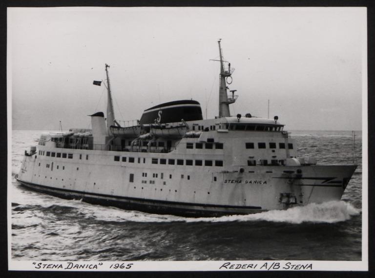 Photograph of Stena Danica, Stena Line card