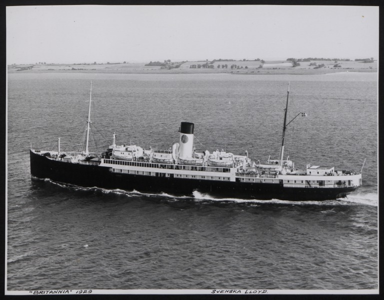 Photograph of Britannia, Swedish Lloyd card