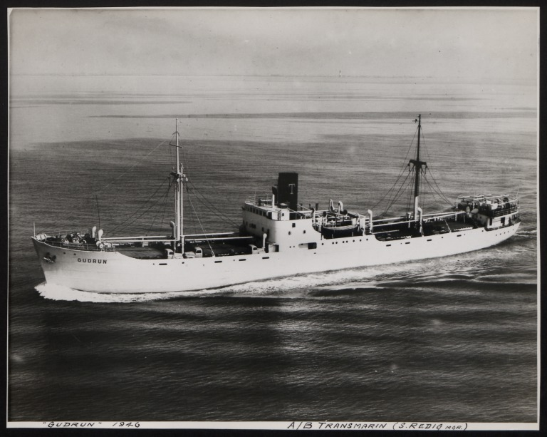 Photograph of Gudrun, A/B Transmarin (S Redig) card