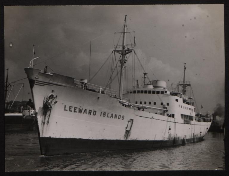 Photograph of Leeward Islands, Trelleborgs Angfartygs A/B card