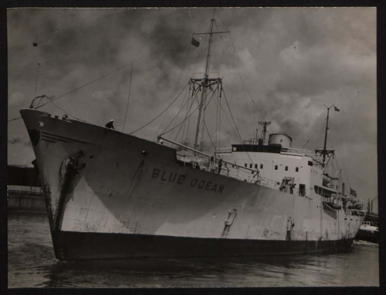 Photograph of Blue Ocean, Trelleborgs Angfartygs A/B card