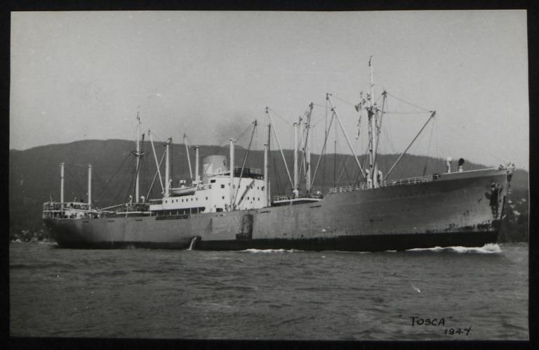 Photograph of Tosca, Rederi A/B Wallenco (O Wallenius) card