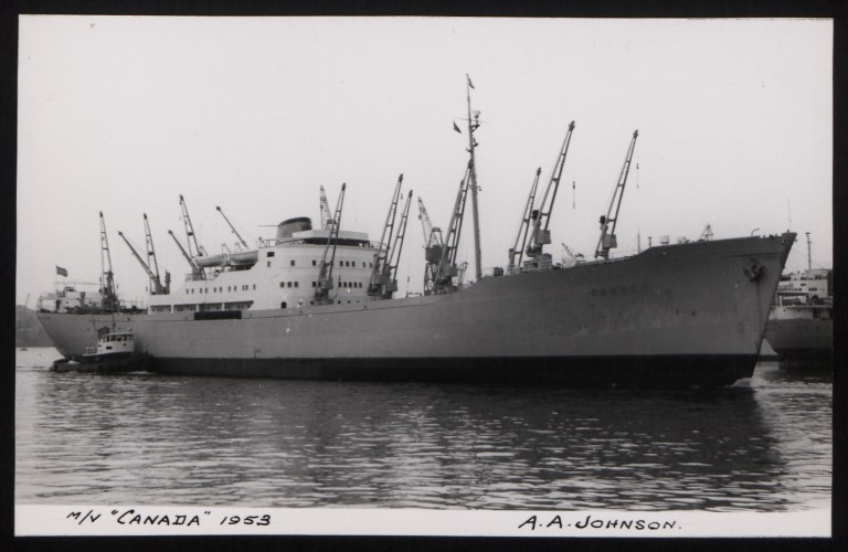 Photograph of Canada, Johnson Line card