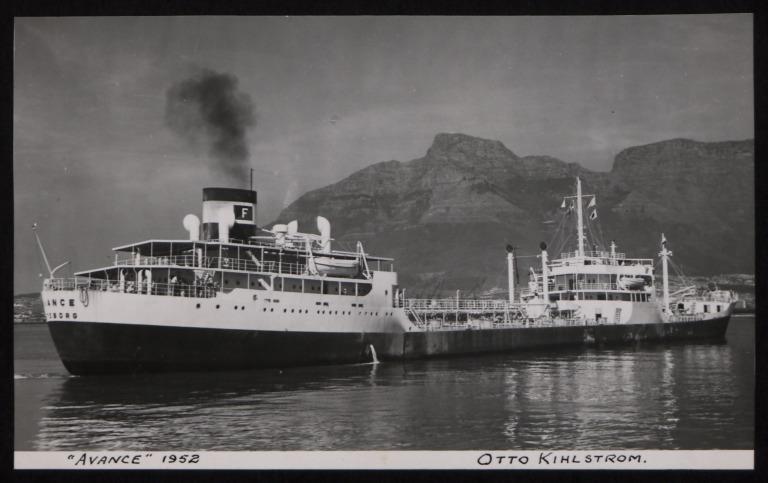 Photograph of Avance, Otto Kihlstrom card