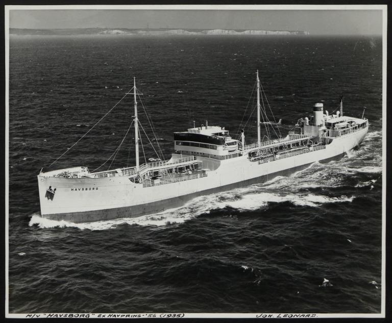 Photograph of Havsborg (ex Havprins '56), Joh Leonard card