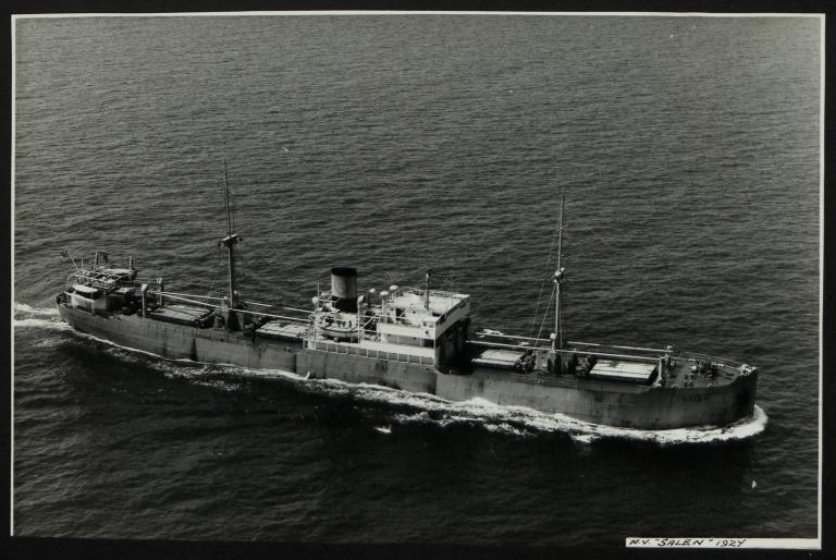 Photograph of Salen (ex Malaren '42), Rederi A/B Sigyn (H Lundgren) card