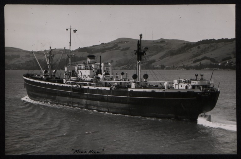 Photograph of Mill Hill (ex Sameden), Counties Ship Management Company card